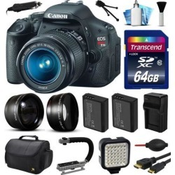 Canon EOS Rebel T3i 600D Digital Camera w/ 18-55mm Lens (64GB Essential Bundle)
