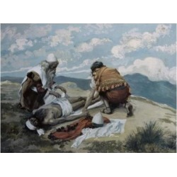 Posterazzi SAL9999134 The Death of Aaron James Tissot 1836-1902 French Jewish Museum New York USA Poster Print - 18 x 24 in.