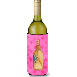Message in a Bottle Pink Polkadot Wine Bottle Beverge Insulator Hugger BB8264LITERK
