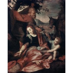 Posterazzi SAL9002930 Flight Into Egypt 1573 Frederico Barocci C1535-1612 Urbino Italy Vatican Museums & Galleries Rome Poster Print - 18 x 24 in.
