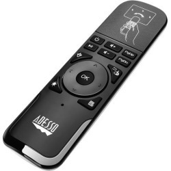 Adesso WKB-4010UB 2.4 GHz wireless Air mouse Remote to control Smart TV, Android TV box, Projector, Playstation, Gaming Consoles, Slideshows & .
