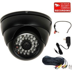 """VideoSecu Outdoor Indoor Weatherproof Vandal Proof IR Day Night Vision Built-in 1/3"""" Sony CCD Security Camera 3.6mm Wide Angle 480 TV Lines with"""