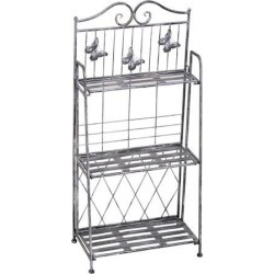 3-Tier Metal Folding Plant Stand Potted Plant Display Rack Indoor Outdoor