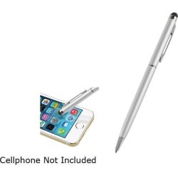 Insten Silver 2-in-1 Capacitive Touch Screen Stylus Ballpoint Pen 1880737