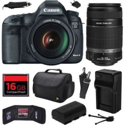 Canon EOS 5D Mark III 22.3 MP Full Frame CMOS Digital SLR Camera with EF 24-105mm f/4 L IS USM Lens and EF-S 55-250mm f/4-5.6 IS II Lens with 16GB.