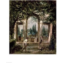 Posterazzi BALXIR36747LARGE The Gardens of The Villa Medici in Rome Poster Print by Diego Velazquez - 24 x 36 in. - Large