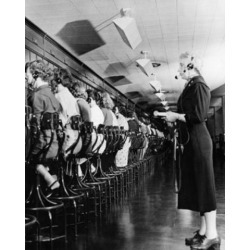 Posterazzi SAL2555307 Telephone Operators Operating Switchboards the Pentagon Washington Dc USA Poster Print - 18 x 24 in.