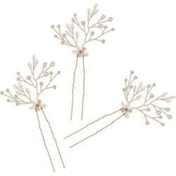Women Bride Crystal Pearl Hair Pins Clips Wedding Hair Jewelry Accessories
