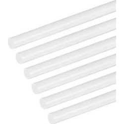 5/32×20 inch ABS Plastic Round Bar Rod for Architectural Model Making DIY White 6pcs