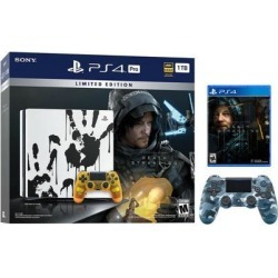 PlayStation 4 Pro 1TB Limited Death Stranding Edition 4K HDR Gaming Console Bundle With an Extra Blue Camouflage DualShock 4 Wireless Controller