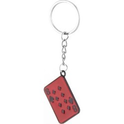 Poker Design Pendant Split Ring Key Chain Keyring Handbag Purse Ornament
