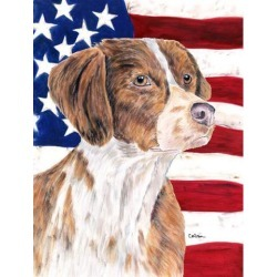 Carolines Treasures SC9112GF 11 x 15 In. Usa American Flag With Brittany Flag, Garden Size