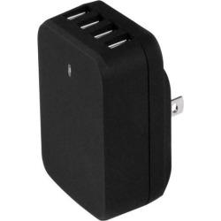 StarTech.com USB4PACBK Travel USB Wall Charger - 4 Port - Black - Universal Travel Adapter - International Power Adapter - USB Charger