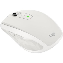 Logitech MX Anywhere 2S Wireless Mobile Mouse with Cross-Computer Control for Mac and Windows (Light Grey)