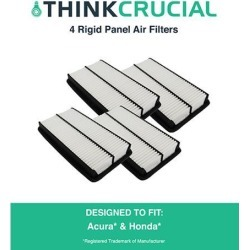 4 Rigid Panel Air Filters Fit Acura Truck MDX, Honda Truck Odyssey & More, Compare to Part # CA10013 & A25651, Designed & Engineered by Think Crucial