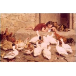 Posterazzi SAL9003270 The Last Spoon by Briton Riviere 1840-1920 Poster Print - 18 x 24 in.