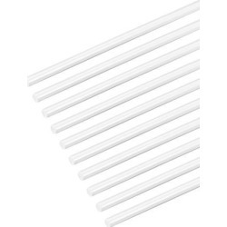1/16×20 inch ABS Plastic Round Bar Rod for Architectural Model Making DIY White 10pcs