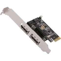 SYBA SD-PEX40049 PCI-Express 2.0 x1 SATA III (6.0Gb/s) Flex-2-port Controller Card