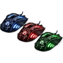 axGear Gaming Mouse USB Optical 5500 Dpi 6 Buttons Wired Mice for Gamer Computer 7 LED