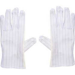 Anti Static Gloves Full Finger Labor Non-slip Glove for Electronics 230x90mm White 5 Pairs