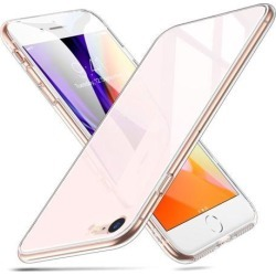 iPhone 8 Case, iPhone 7 Case, ESR 9H Tempered Glass Back Cover [Mimics the Glass Back of iPhone][Scratch-Resistant] + Soft Silicone Bumper [Shock
