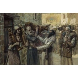 Posterazzi SAL999501 The Idols Are Brought Out James J. Tissot 1836-1902 French Jewish Museum New York USA Poster Print - 18 x 24 in.