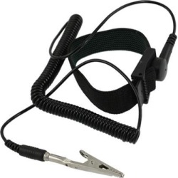 Unique Bargains Black Anti Static ESD Discharge Wrist Strap Band w Alligator Clip