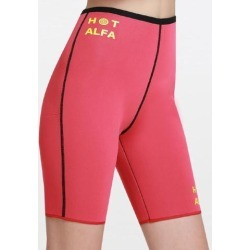 Red Neoprene Body Waist Thigh Slimming Shaper Sweat Sauna Thermo Pants
