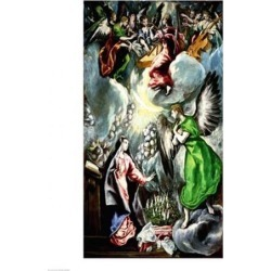 Posterazzi BALXIR90013LARGE The Annunciation Poster Print by El Greco - 24 x 36 in. - Large