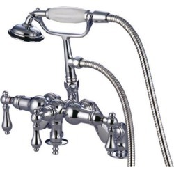 Kingston Brass CC620T1 Deck Mount Clawfoot Tub Filler with Hand Shower