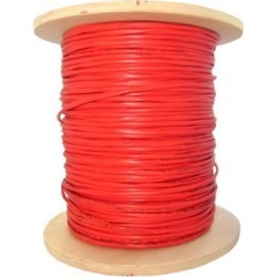 6 Fiber Indoor Distribution Fiber Optic Cable, Multimode, 62.5/125, Riser Rated, Spool, 1000 foot - Orange