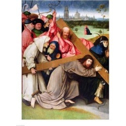 Posterazzi BALXIR168151LARGE Christ Carrying The Cross Poster Print by Hieronymus Bosch - 24 x 36 in. - Large