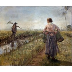 Posterazzi SAL9003355 Morning in the Fields by Fritz Karl Hermann Von Uhde 1848-1911 Poster Print - 18 x 24 in.