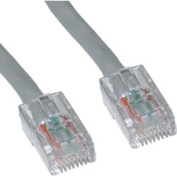 Cable Wholesale Cat 6 Gray Ethernet Patch Cable, Bootless, 7 Foot