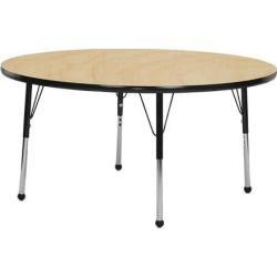 Mahar Manufacturing M60RNYL-SN Round Activity Table with Maple Top and Yellow Edge, 60 in. found on Bargain Bro India from Newegg Canada for $456.97
