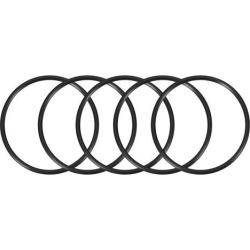O-Rings Nitrile Rubber 80mm x 90mm x 5mm Seal Rings Sealing Gasket Black 5pcs