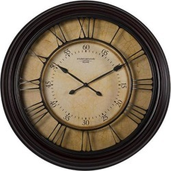 Offex Home 29' Traditional Chateau Wall Clock - Dark Brown