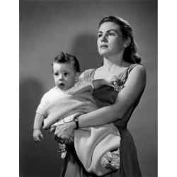 Posterazzi SAL2559818D Portrait of Young Mother Holding Baby Boy Poster Print - 18 x 24 in.