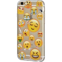 iPhone 6 Plus Case, Emoji Clear Desgin Printed Pattern Soft Skin Fit Clear Case for iPhone 6s Plus - Different Emotions Sleepy