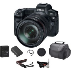 Canon EOS R Mirrorless Digital Camera w/ 24-105mm Lens Bundle w/ Carrying Case & Cleaning Kit