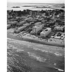 Posterazzi SAL25545998 High Angle View of Buildings Near the Sea Miami Florida USA Poster Print - 18 x 24 in.