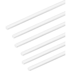 5/64×20 inch ABS Plastic Round Bar Rod for Architectural Model Making DIY White 6pcs