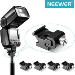 Neewer® Black Metal Cold Shoe Flash Stand Adapter with 1/4-inch -20 Tripod Screw (5 Packs)