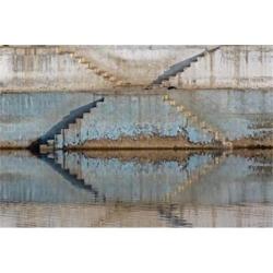Steps mirrored on small lake, Jodhpur, India Poster Print by Adam Jones (35 x 23)