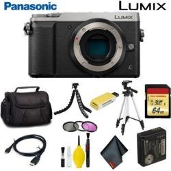 Panasonic Lumix DMC-GX85 Mirrorless Micro Four Thirds Digital Camera (Body Only) (Silver) Master Bundle