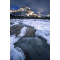 Posterazzi DPI1774467 Freezing Mountainous River Banff Alberta Canada Poster Print by Bilderbuch, 11 x 18