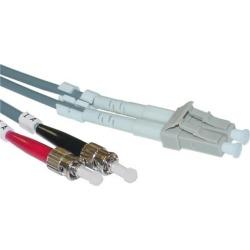 Cable Wholesale LC / ST, Multimode, Duplex Fiber Optic Cable, 50/125, 10 Meter (33ft)