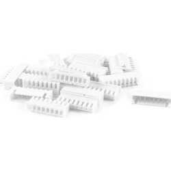 Unique Bargains 10PCS 8-Pin 2.54mm Pitch Straight Mounting Pin Headers White