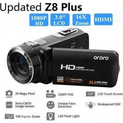 [ Original Authorized ] Ordro Z8 Plus FHD 1080P 3 inch Touch Sceen 24MP 16X Zoom DV Camera Digital Camcorder HDV Z8Plus