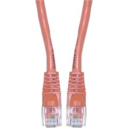 Cable Wholesale Office Electronics Cat5e Orange Ethernet Patch Cable Snagless/Molded Boot 6 Inch